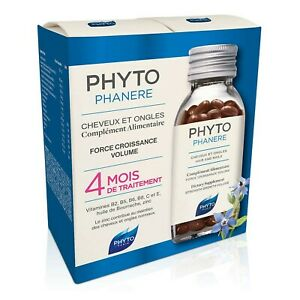 PHYTOPHANERE  Dietary Supplement for Beautiful Hair & Nails 240 Capsules