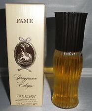 VINTAGE ORIGINAL Fame Spraygrance Cologne By Corday 2.5 Oz IN BOX
