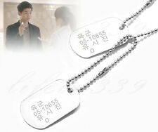 Descendants of the Sun K-drama Captain Yoo Si-jin military Style necklace Silver
