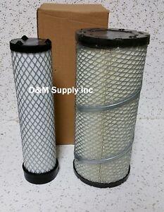 Loader skidsteer inner outer air filter set to fit Bobcat Case International IH