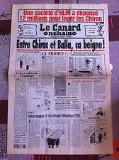 Le Canard Enchainé 29/3/1995; Une Société d'HLM à dépensé 12 Million avec Chirac