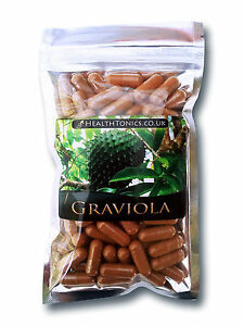 Graviola Extract ( 4:1 equivalent to 1,600mg ) Vegetarian Capsules
