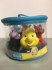 Disney Parks Exclusive-The Little Mermaid-4 Pc Bathtub Pool Squeeze Toy Set-New