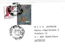 CM331 SENEGAL 1992 *OLYMPIC GAMES* 300f TORCH Missionary Air MIVA 1994 Cover