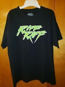 Riff Raff Hip Hop Neon Black Four Loko Concert Tour 2018 Tee T-Shirt LARGE LG L