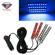 4x 9LED Charger Interior Lights Accessories Car For SUV Floor Decor Set Ice Blue
