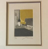 Bernard Munch Abstract Contemporary Framed Lithograph