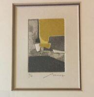 Bernard Munch Abstract Contemporary Framed Lithograph