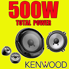 KENWOOD 500W TOTAL 2WAY 5.25 INCH 13cm CAR DOOR 2WAY COMPONENT SPEAKERS TWEETERS