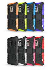 Rugged Shock Proof Heavy Duty Tough Hard Stand Case Cover for Mobile PHONES Motorola Moto X Play 2015 Black