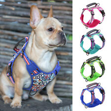 Front Clip Mesh Dog Harness with Lift Handle Reflective Breathable Walking Vest