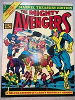 MARVEL The Mighty Avengers #7 Treasury Edition Comic LARGE Book 1975
