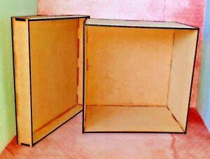 Laser Cut A5 MDF  Large Memory Storage Christmas Eve Gift Box - Craft Decoupage