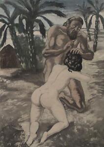 BERTHOMME SAINT ANDRE :  le rêve du naufragé - Lot de 2 EAUX FORTES, 1931