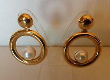ORECCHINI  oro giallo   con  perla mabe'