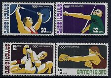 1976 SAMOA OLYMPIC GAMES MONTREAL SET OF 4 FINE MINT MNH/MUH