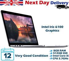 "Apple MacBook Pro 13"" Retina Core i5 2.7Ghz 8GB 512GB SSD April 2015 OS Mojave"