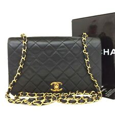 CHANEL Quilted Matelasse 23 Full Flap CC Logo Lambskin Chain Shoulder Bag /oo152