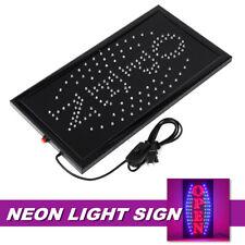 48x25cm Open Led Neon Light Bar Store Business Sign Lamp Decor 2 Flashing Mode