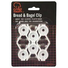 Set of 6 Bread and Bagel Bag Clips