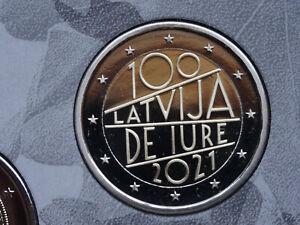 Lettland 2 Euro Gedenkmünze DE IURE 2021 BU aus original KMS nur 7000 Stück NEU