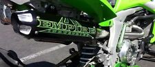 Empire Industries Black Cyclon Full System Exhaust Monster Energy Green KFX450