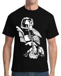 Judge Dredd (2000AD) Comic Book Graphic Novel Men's Black T Shirt
