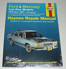 Reparaturanleitung Ford LTD / Country Squire + Mercury V8, Baujahre 1975 -1987
