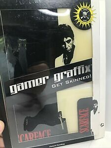 """Gamer Graffix For PS2 Slim Console """"Scarface"""" Skin Kit Removable/Reusable NOS"""