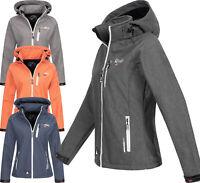 Geographical Norway Damen Softshell Jacke FVSB Übergangsjacke Winter Regen Jacke