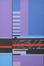 Gomer Lewis Gallois peinture à l'Huile Abstrait Paysage Hoyland Art 1921-1994