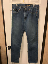 LEE Mens Regular Fit Jeans Straight Leg Superior Comfort Stretch 32x34 Preowned
