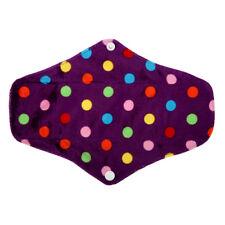 Reusable Washable Bamboo Menstrual Sanitary Maternity Minky Pad Dot Regular M