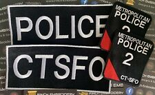More details for custom made police ctsfo morale patch plate carrier extra large tactical set