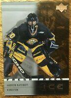 2000-01 UD Ice - ANDREW RAYCROFT #51 Boston Bruins Rookie RC /1500
