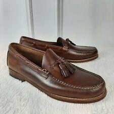 G H BASS & Co Eddington Tassle Slip On Leather  Loafer Shoes Mens Size 10 Brown
