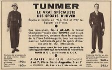 Y8827 TUNMER - Vetements pour Sports d'Hiver - Pubblicità d'epoca - 1936 Old ad