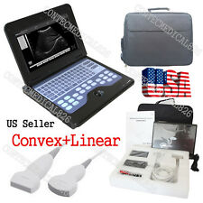 US Seller,CE CMS600P2+2 Probes Ultrasound Scanner Laptop Machine Convex+Linear