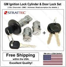 Ignition Switch Lock Cylinder & Door Lock Set. For GM Chevrolet GMC Trucks SUV