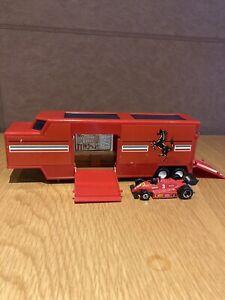 Vintage Matchbox Superkings Ferrari Formula One car transporter with One car