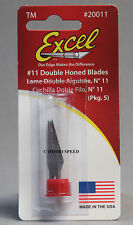 EXCEL #11 DOUBLE HONED BLADES (5) model wood cutting cutter knife K1 20011 NEW