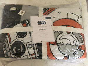 Pottery Barn Kids Star Wars Droid Quilt - Twin - New In Package Sold Out @ PB