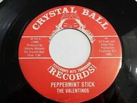 The Valentinos Peppermint Stick / Moonglow 45 Crystal Ball Vinyl Record