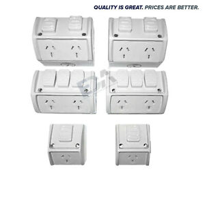 Weatherproof Power Point Outlet DGPO NEW Water Proof External