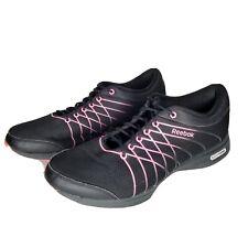 Reebok Womens Easytone Shoes Size 9 Black Pink Rocker Shaping Toning Athletic