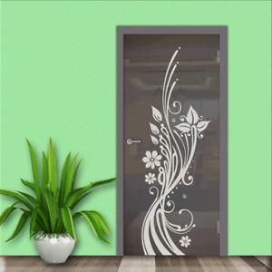 Türfolie Design Glasdekor Milchglas Fensterfolie Sichtschutz Vintage Floral