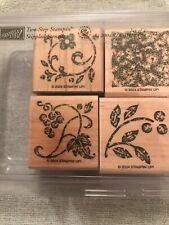 Stampin Up Stippled Stencils Set Of 4 Wood Mounted Rubber Stamp Su 2004 Stamps