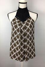 A.L.C. Women's Top Size 10 Silk Sleeveless Boho Crochet Mock Neck Ava Print $395