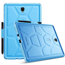 For Galaxy Tab S4 10.5 [Shockproof] w/Drop Protection Silicone Case Cover Blue