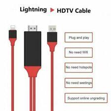 Cable Lightning a hdmca 2M 8 Pin 1080p TV AV Adaptador Cargador USB para iPhone iPa